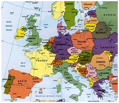 Mapa Europa En Español.Estudiar Espanol La Segunda Lengua En La Ensenanza En Europa